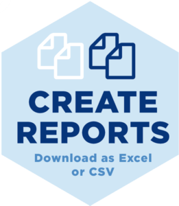 WIth DISCCORP You can create reports and then download as Excel or CSV
